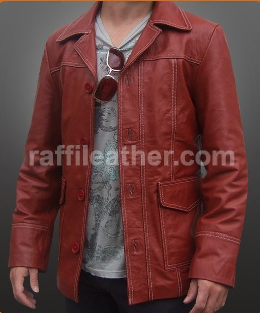 JAKET KULIT FIGHT CLUB